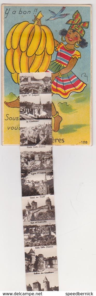 26975 Carte à Système FOUGERES 35 France -antilles Sous La Banane Vous Verrez -Gaby 128 - - Fougeres