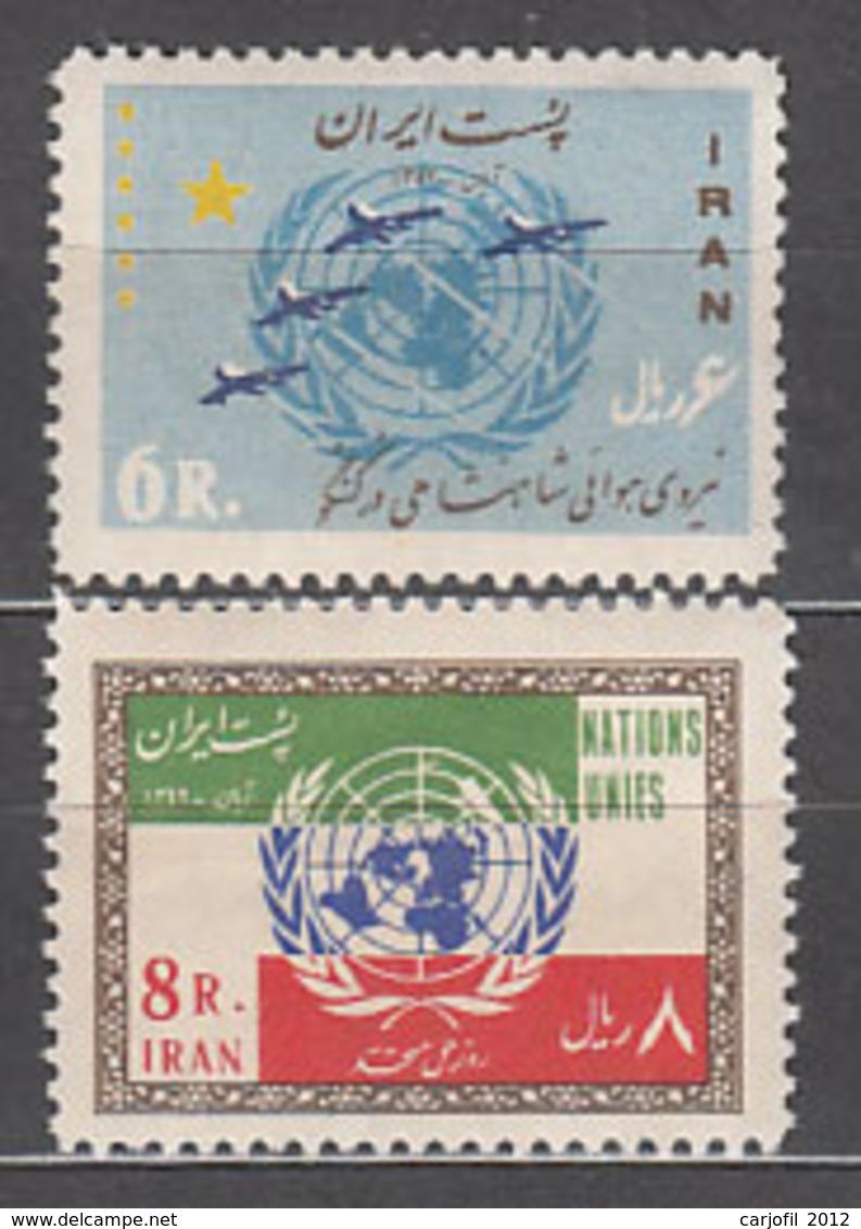 Iran - Correo 1963 Yvert 1041/2 ** Mnh ONU - Iran