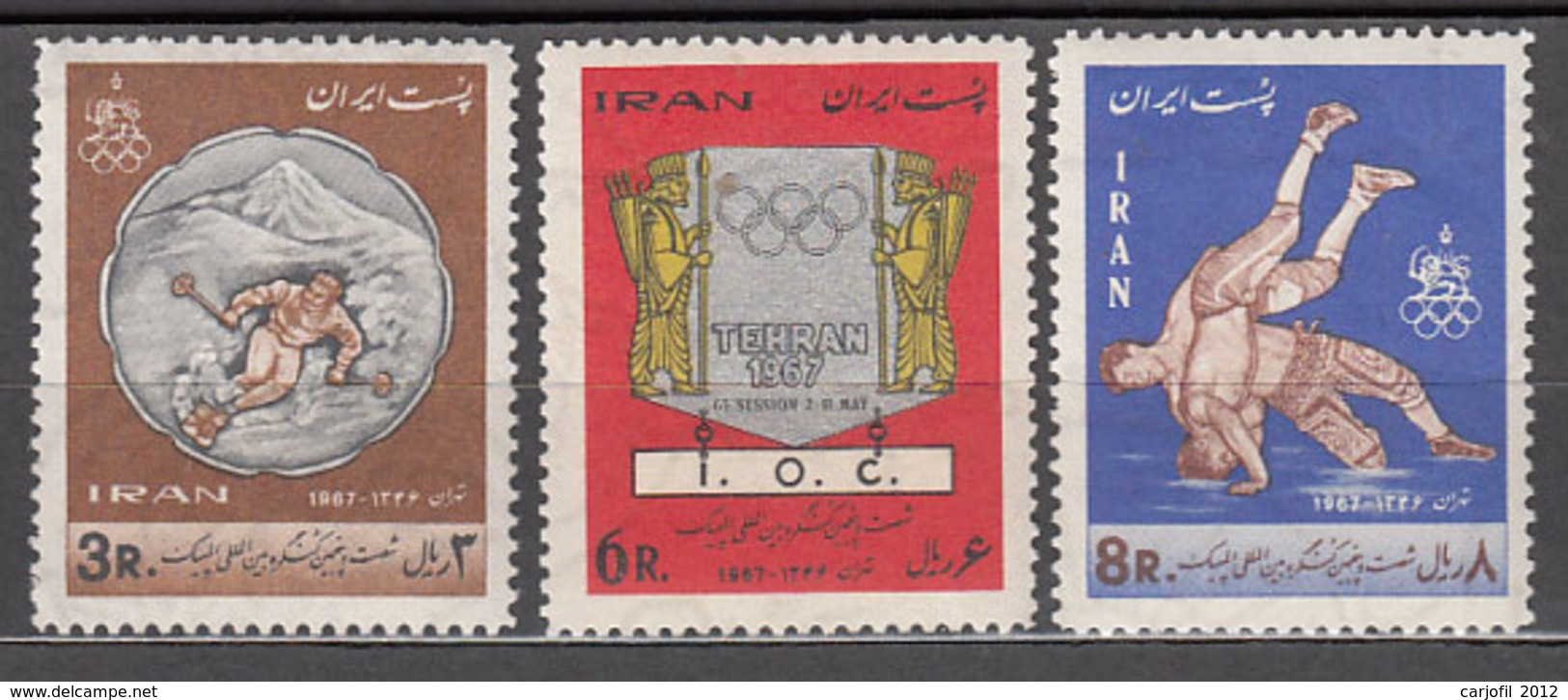Iran - Correo 1967 Yvert 1216/8 ** Mnh Deportes - Iran