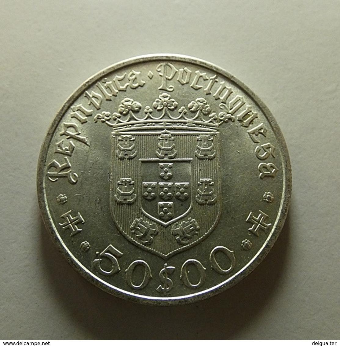 Portugal 50 Escudos Pedro Alvares Cabral Silver - Portugal