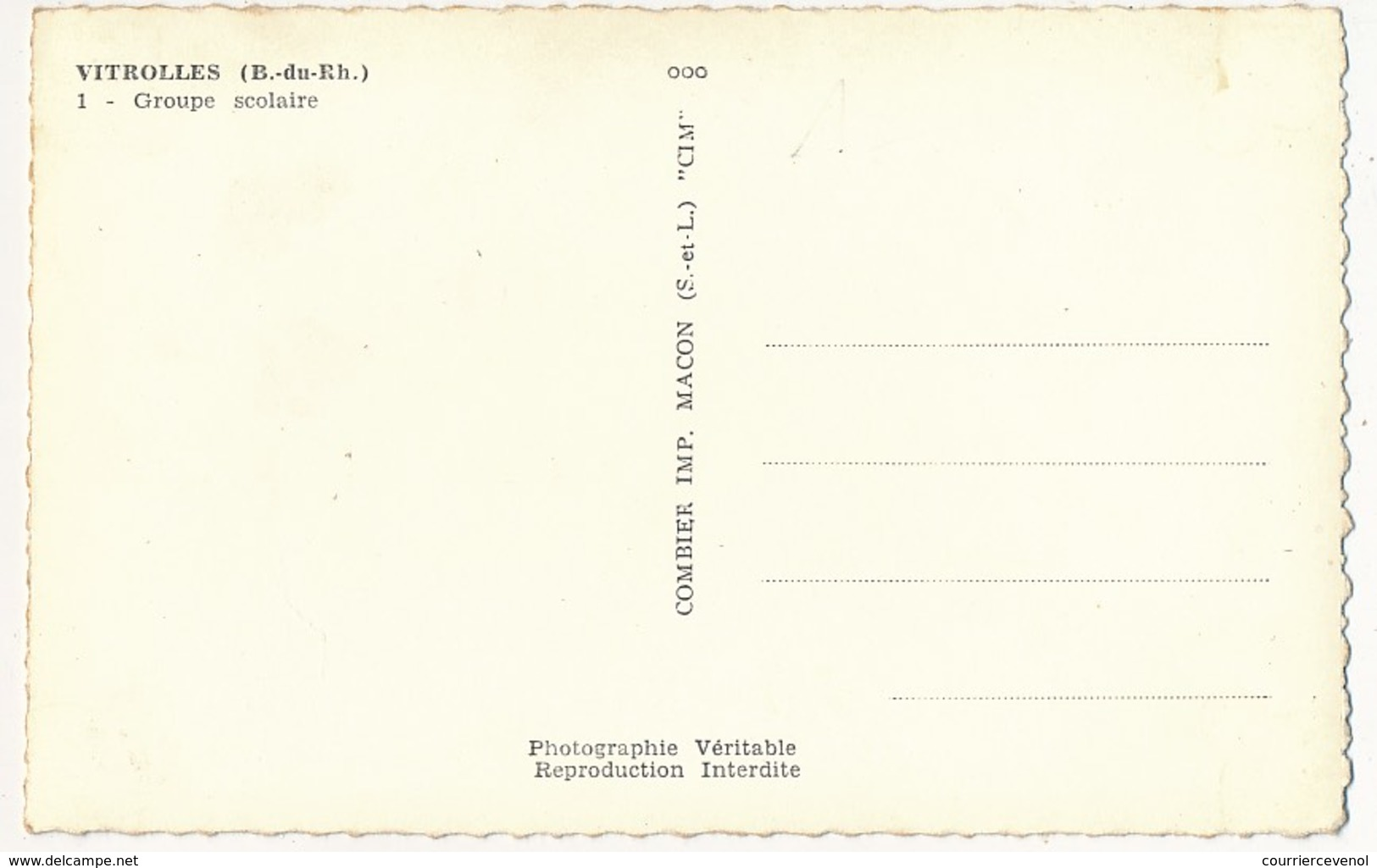 CPSM - VITROLLES (Bouches Du Rhône) - Groupe Scolaire - Francia