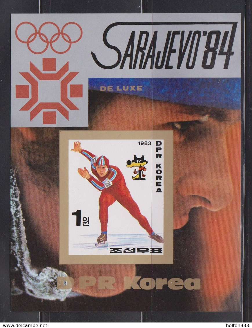 NORTH KOREA Souvenir Sheet Issued For Sarajevo Winter Olympics # 3 - Korea, North