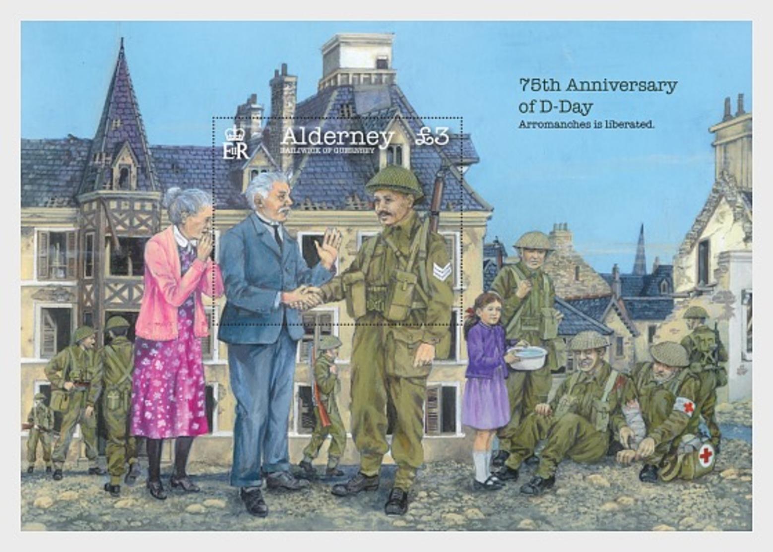 H01 Alderney 2019 75th Anniversary Of D-Day Miniature Sheet - Alderney