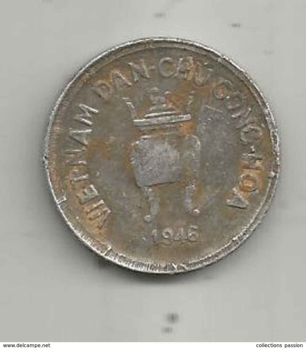 Monnaie , VIÊT-NAM , 5 Hao, 1946, Vietnam , 2 Scans - Viêt-Nam