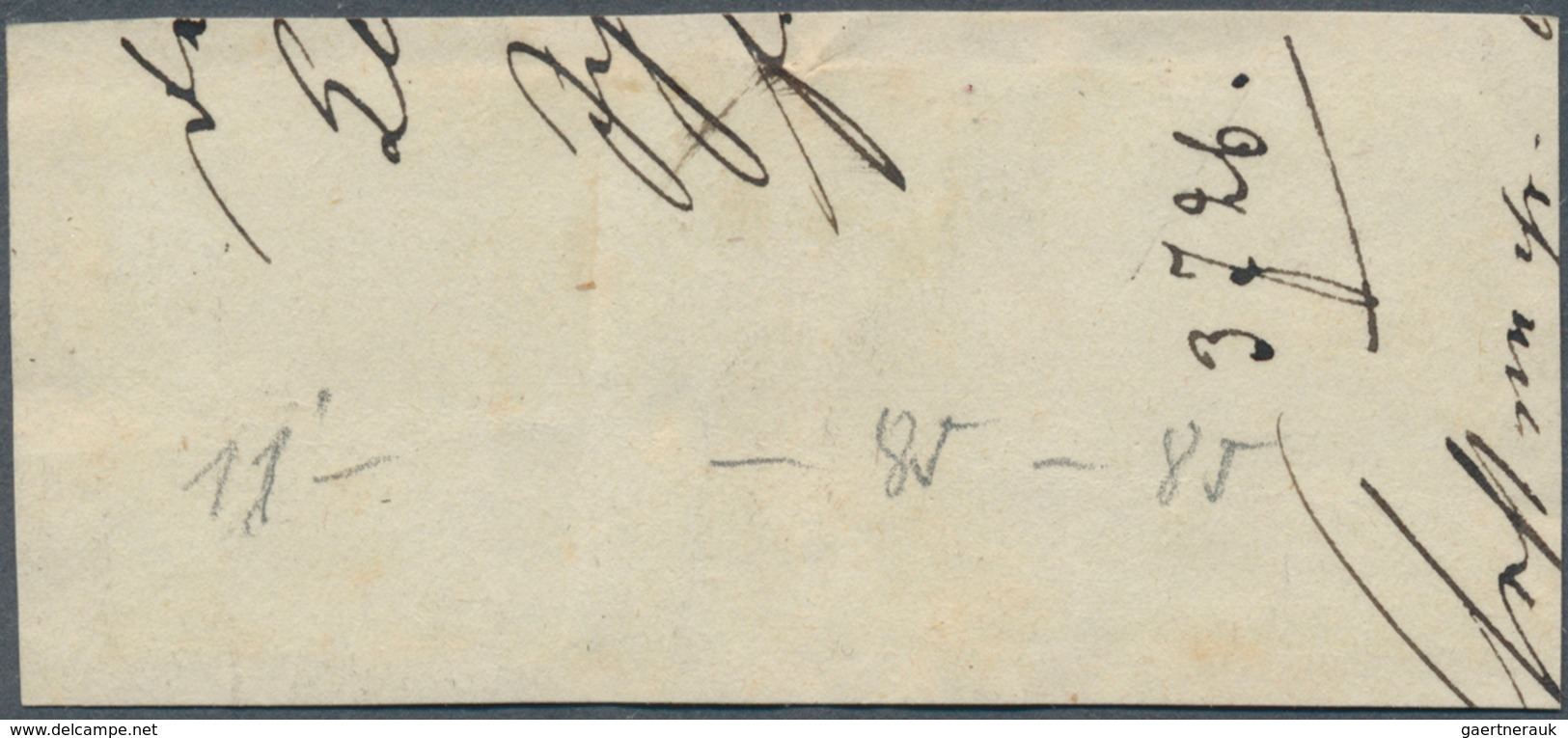 Baden - Marken Und Briefe: 1851/53, Ziffernausgabe 6 Kr. Schwarz Auf Grün Und Zweimal 1853, 3 Kr. Sc - Baden