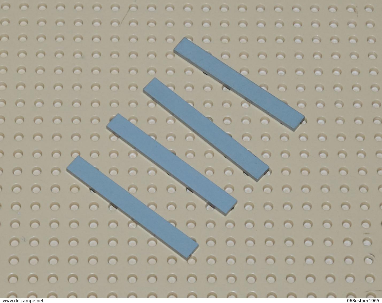 Lego Lot 4x Tile 1x8 Gris Clair Ref 4162 - Lego Technic