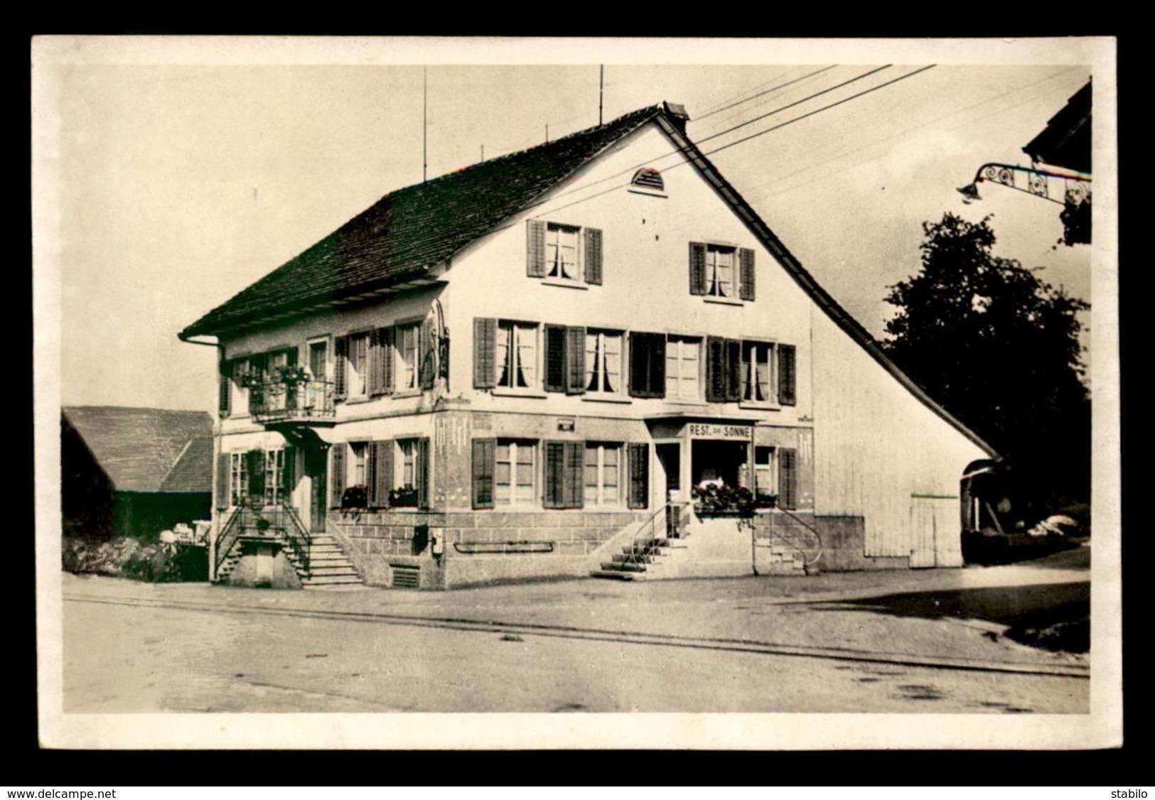 SUISSE - ZURICH - RESTAURANT Z. SONNE, WILLIKON-OETWIL A SEE - ZH Zurich