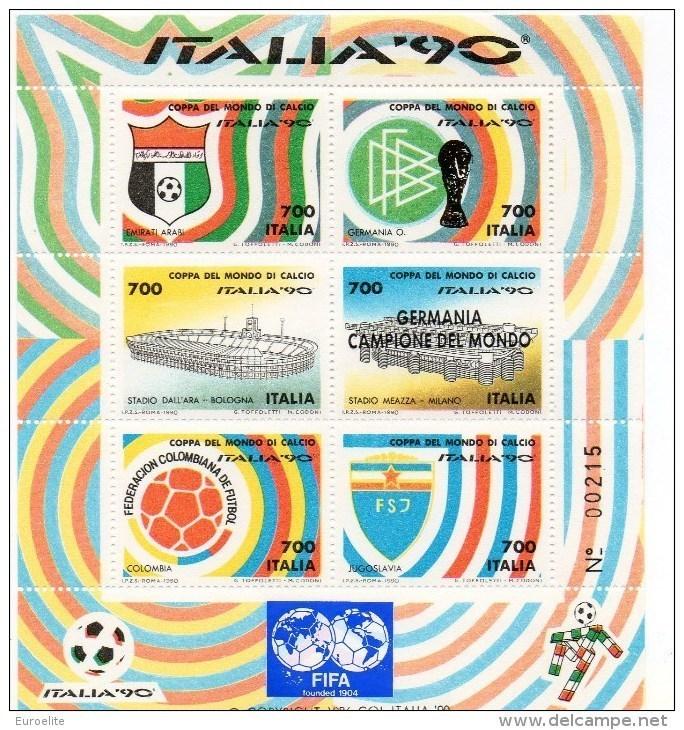 Francobolli Coppa Del Mondo Di Calcio «Italia '90» Foglietto Num.4 - 1946-.. République