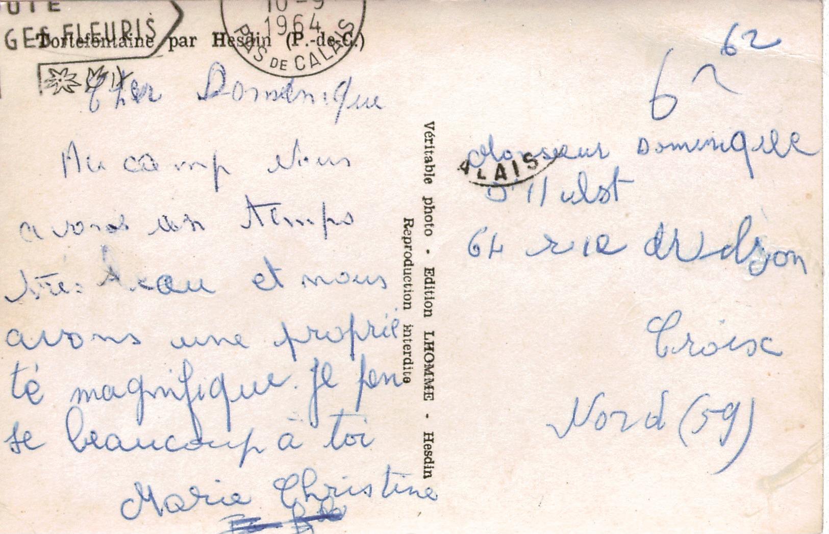 Cpsm 62 TORTEFONTAINE Par Hesdin , Portail D'entrée De L'Abbaye , Peu Courante - Sonstige Gemeinden