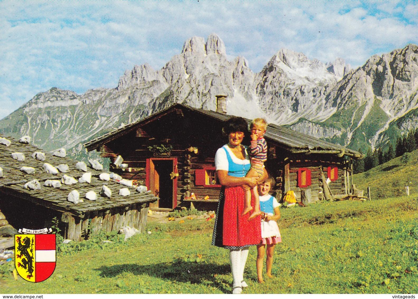 AK504 Ansichtskarte Löckenwaldhütte Sulzenalm Mit Bischofsmütze, Filzmoos, Salzburg, Frankiert, Nicht Gelaufen - Filzmoos