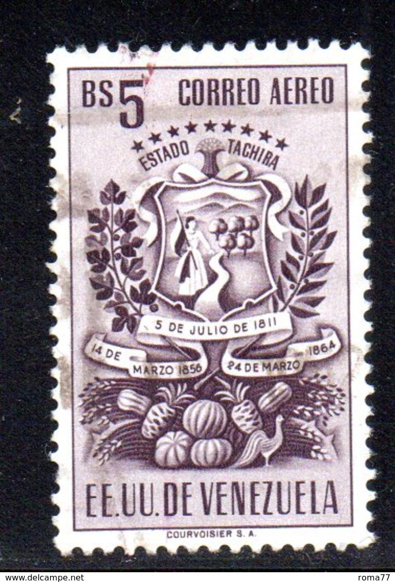 CI1103 - VENEZUELA 1951, Posta Aerea Yvert N. 348B  Usato. Tachira - Venezuela