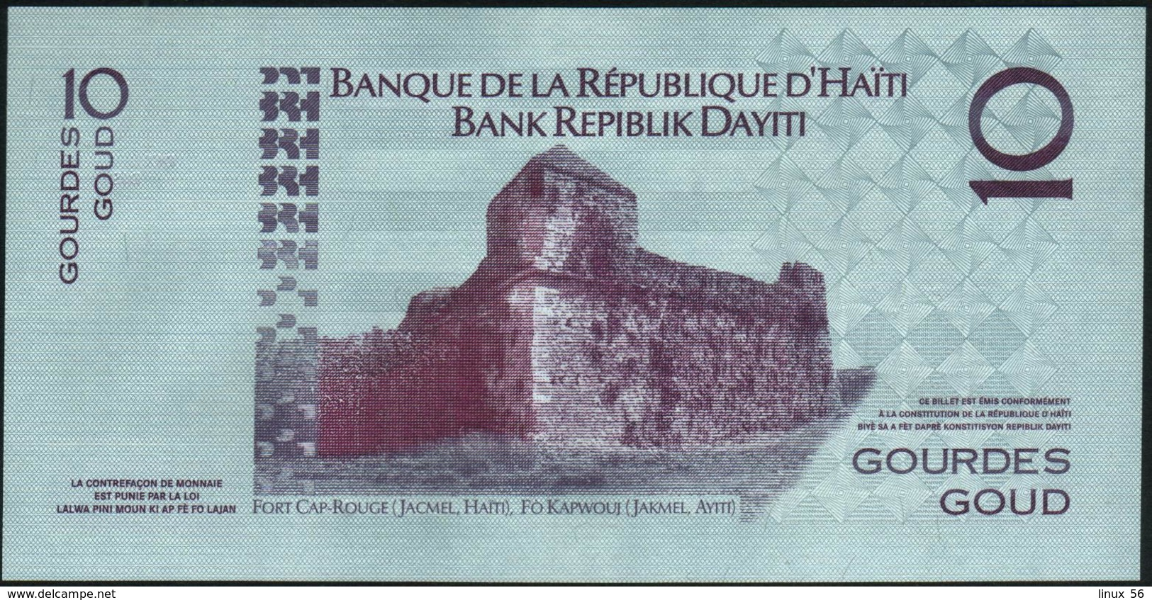 HAITI - 10 Gourdes 2012 {Commemorative} UNC  P.272 E - Haiti