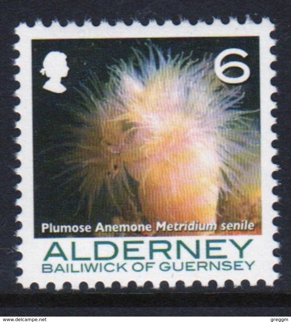 Alderney Single 6p Stamp From The 'Corals And Anemones' Definitive Set. - Alderney