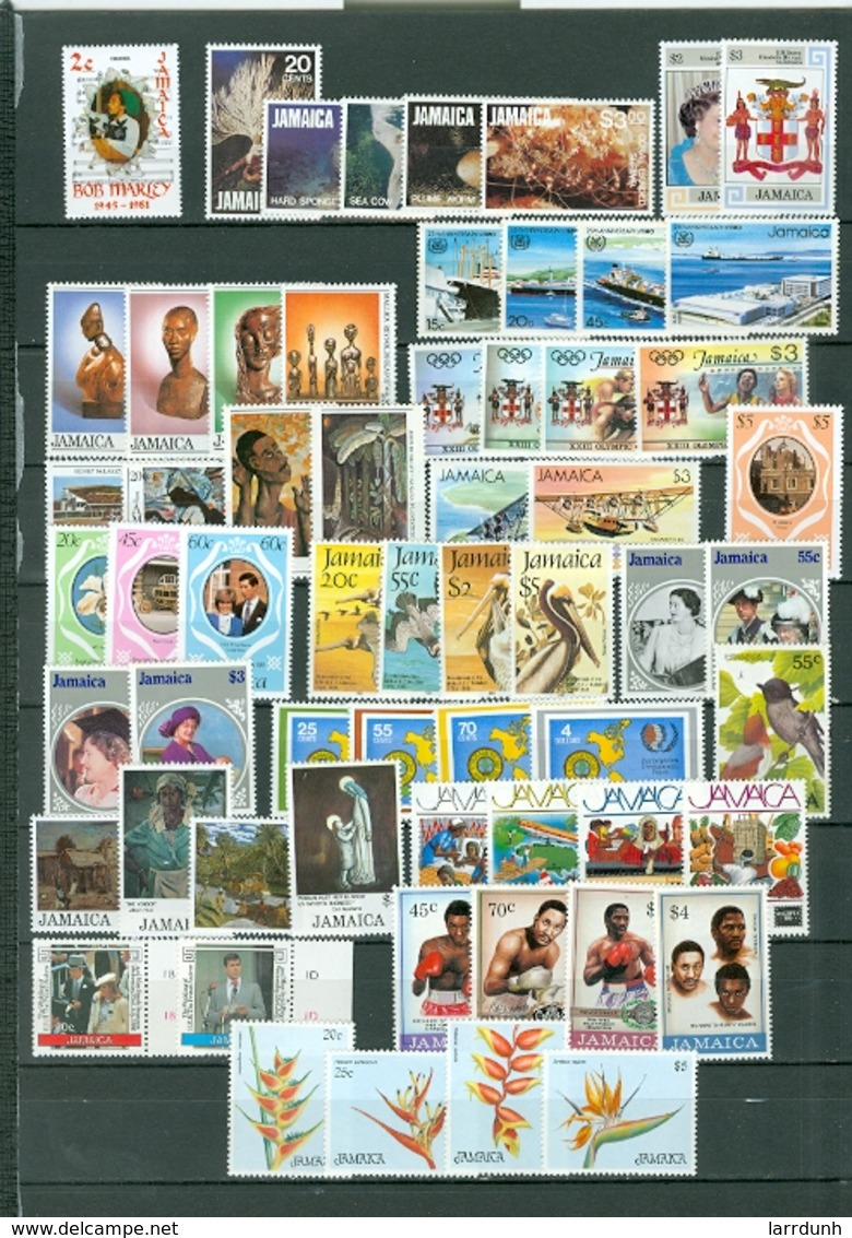 Jamaica NICE LOT Of 61 Incl.12 SETS Marles Boxing Ships Views Royals More MNH Cat $86 WYSIWYG A04s - Jamaica (1962-...)