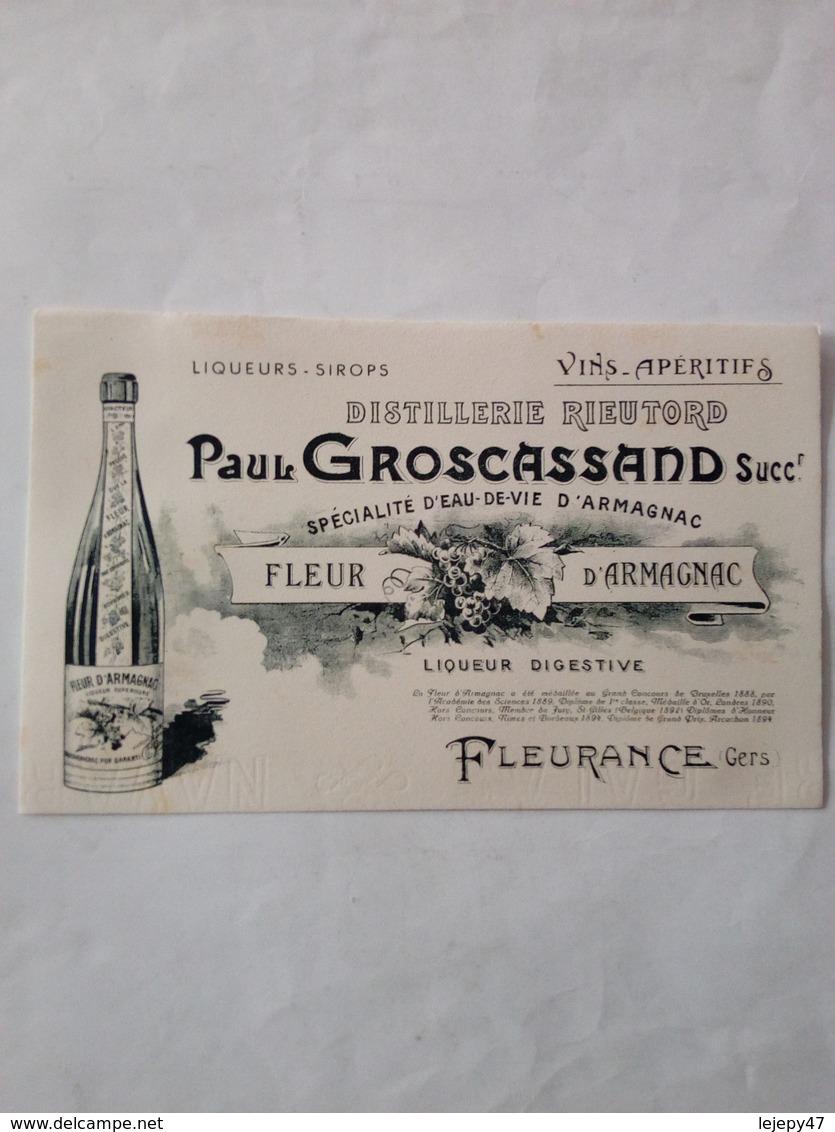 """Buvard Ancien Neuf """"Fleur D'Armagnac"""" - Collections"""