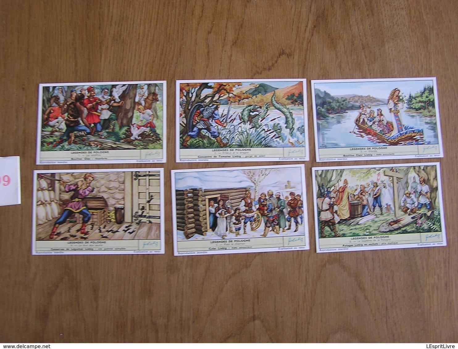 LIEBIG Légendes De Pologne Légende Série De 6 Chromos Trading Cards Chromo - Liebig