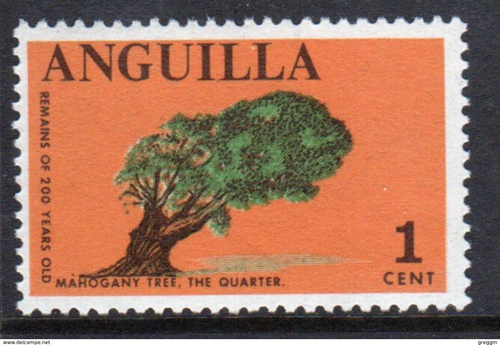 Anguilla Single 1 Cent Stamp From The 1967 Definitive Set. - Anguilla (1968-...)