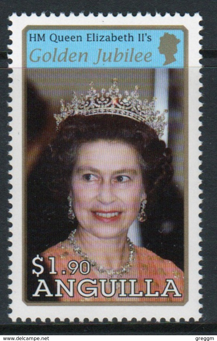 Anguilla Single $1.90 Cent Stamp From The 2002 Golden Jubilee Set. - Anguilla (1968-...)
