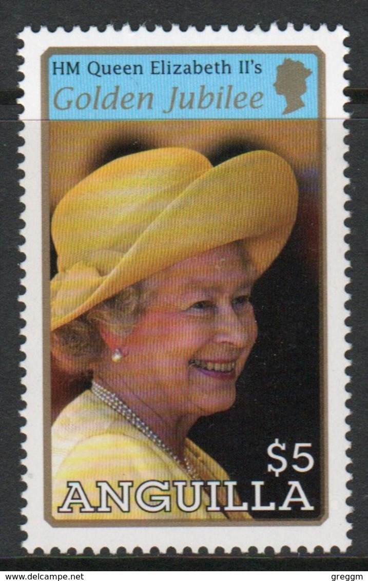 Anguilla Single $5 Stamp From The 2002 Golden Jubilee Set. - Anguilla (1968-...)