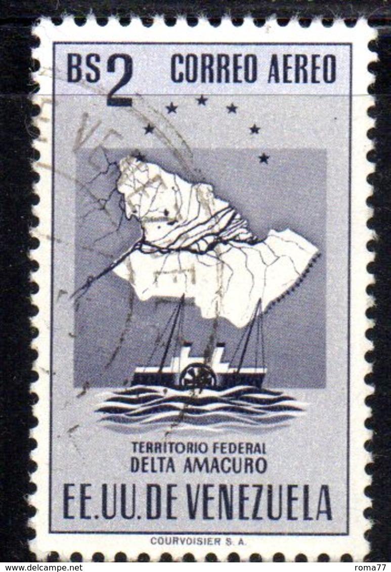 CI1295 - VENEZUELA 1953, Posta Aerea Yvert  N. 464  Usato. AMACURO - Venezuela