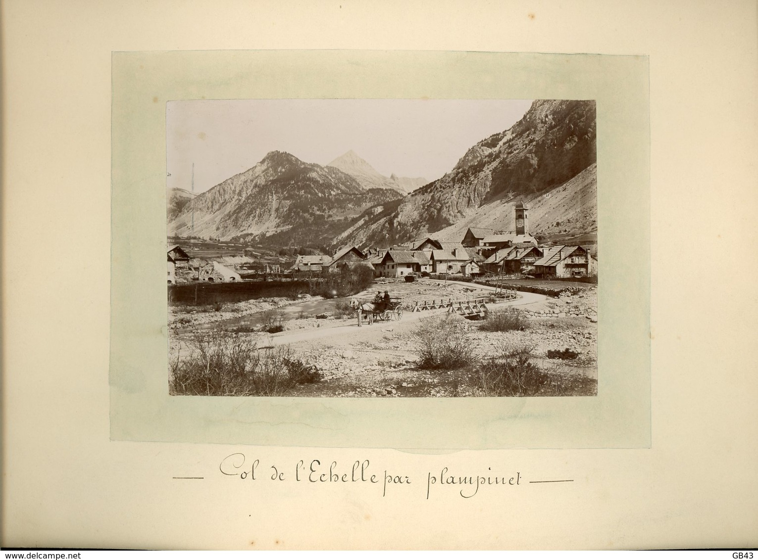 Col De L'Échelle Par Plampinet - Alte (vor 1900)