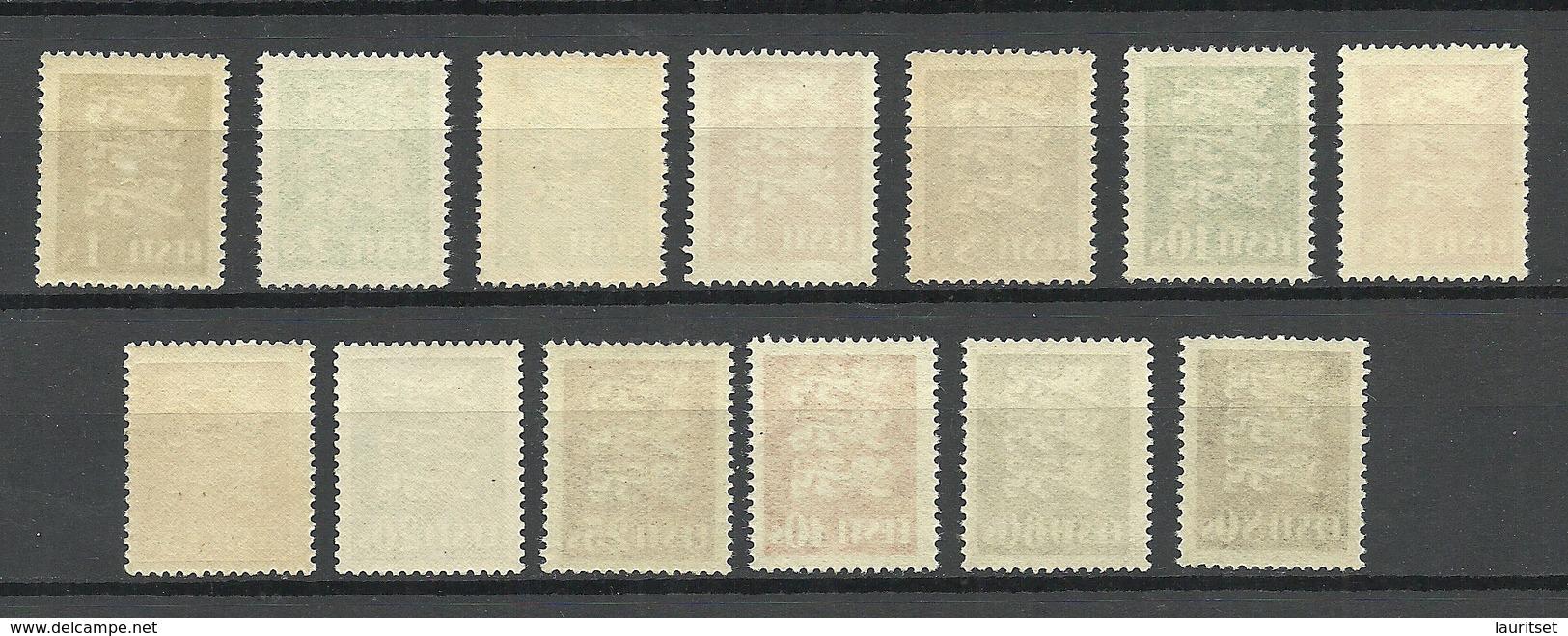 Estland Estonia 1928/29 Michel 74 - 86 MNH - Estonia