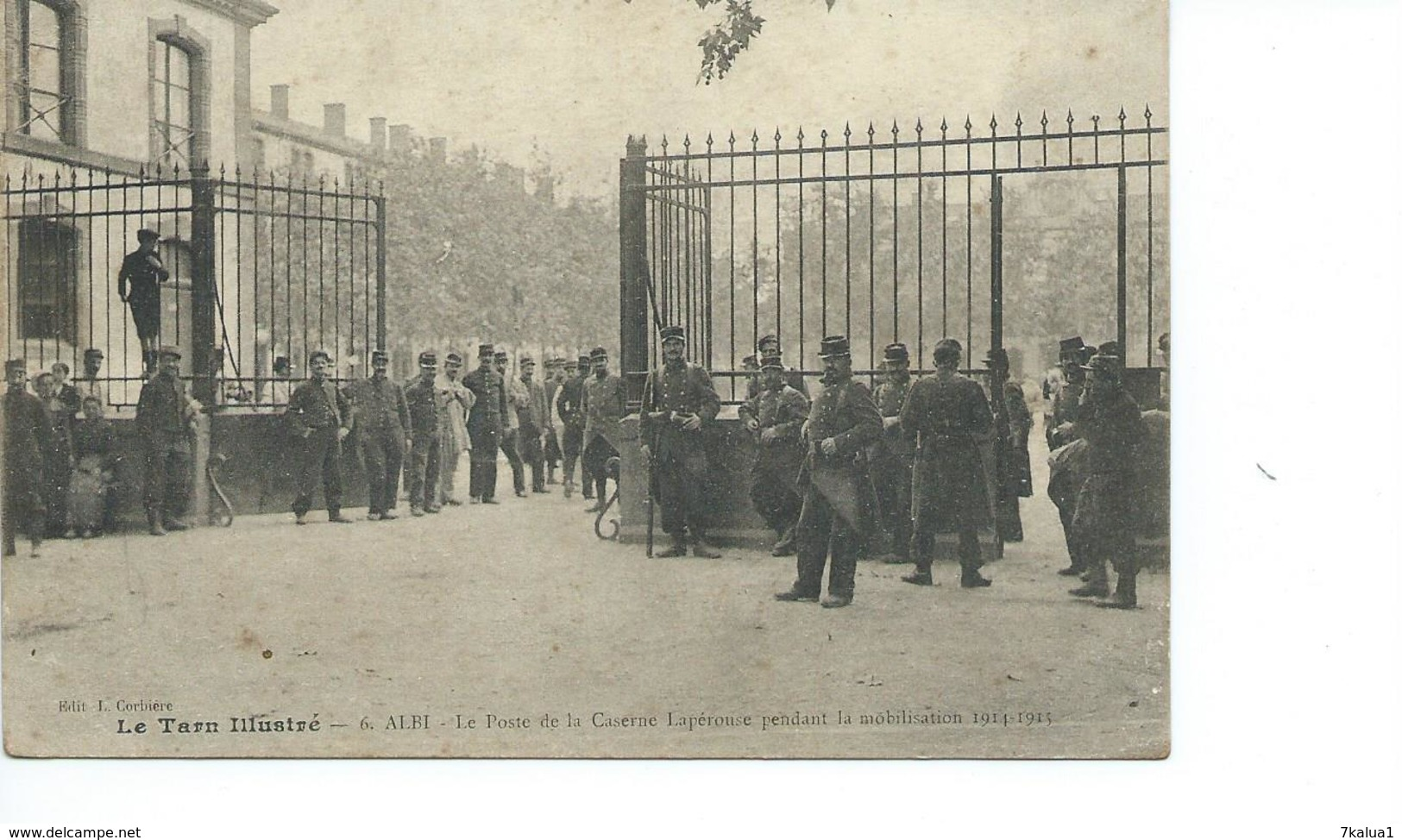 ALBI : Caserne Lapérouse, Mobilisation 1914 - Albi