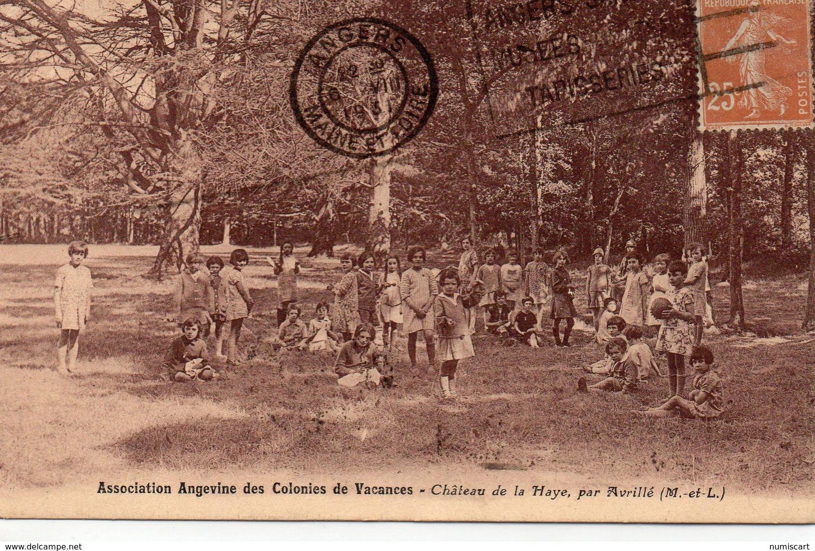 Avrillé Très Animée Colonies De Vacances Château De La Haye - Autres Communes