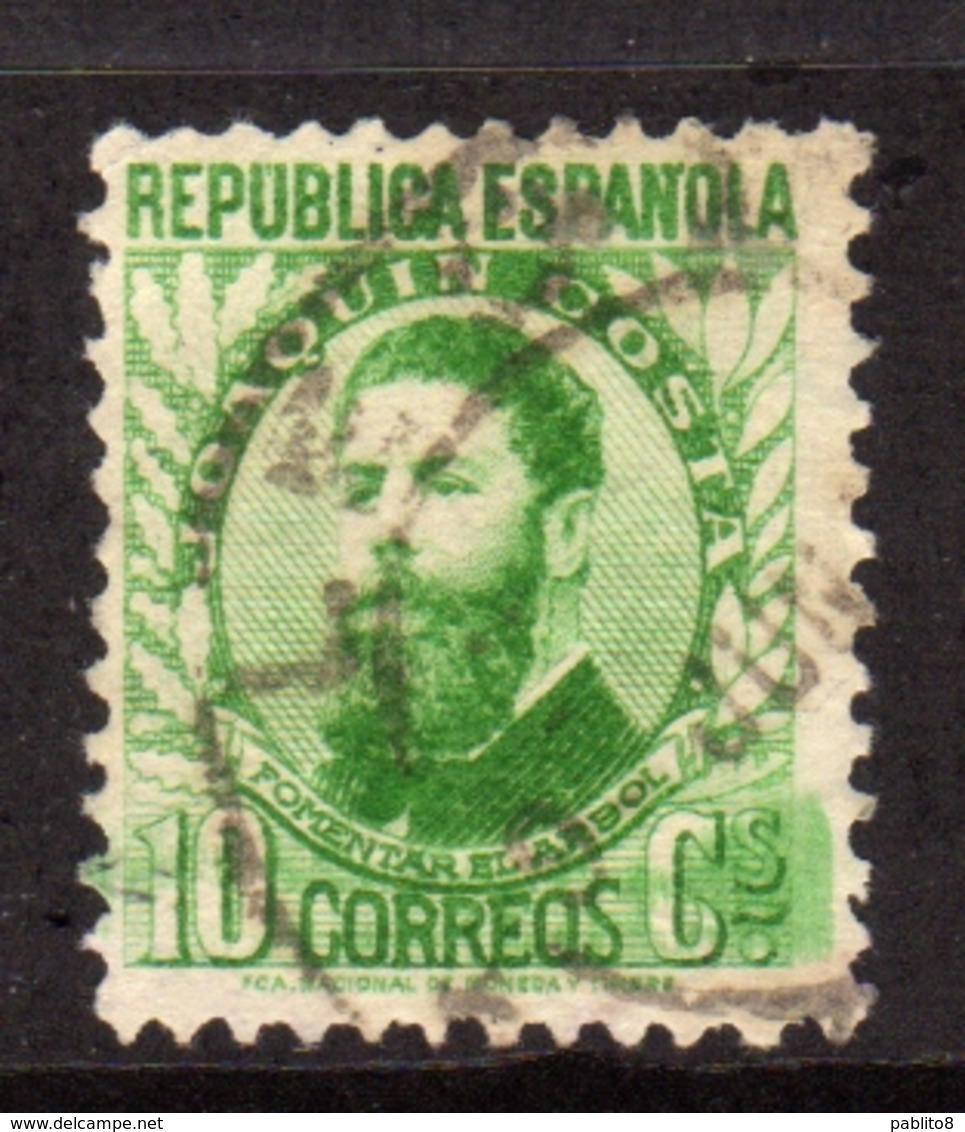 SPAIN ESPAÑA SPAGNA 1931 1932 JOAQUIN COSTA CENT. 10c USATO USED OBLITERE' - 1931-Aujourd'hui: II. République - ....Juan Carlos I