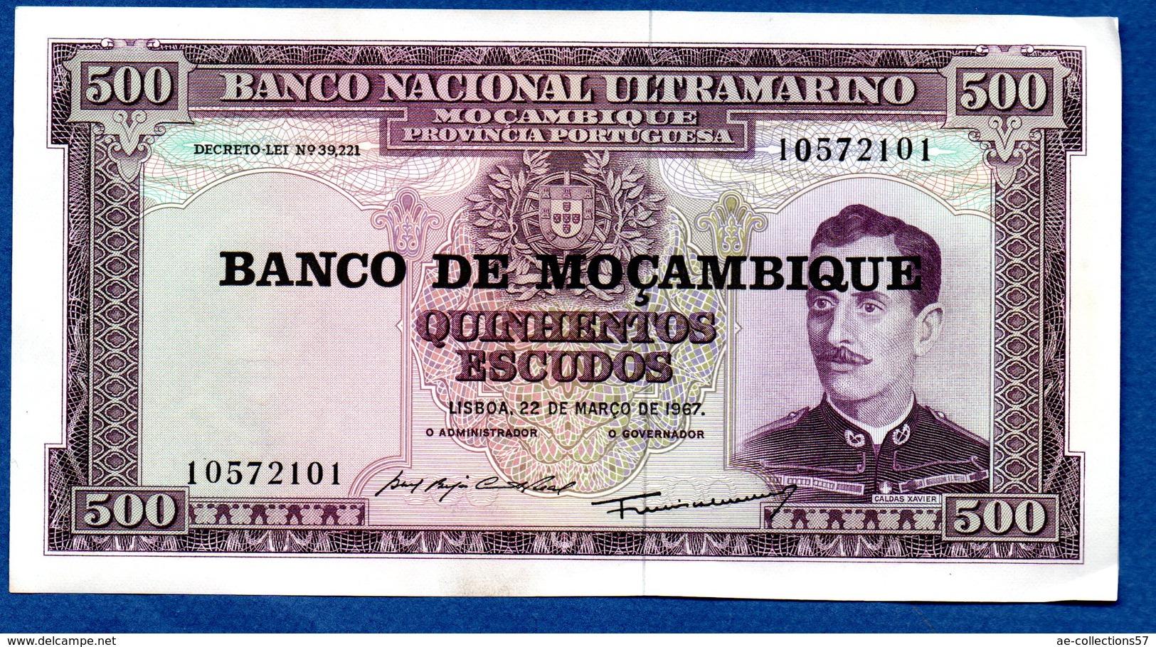 Mozambique   -  500 Escudos  -  Pick # 118  - état  SUP - Mozambique
