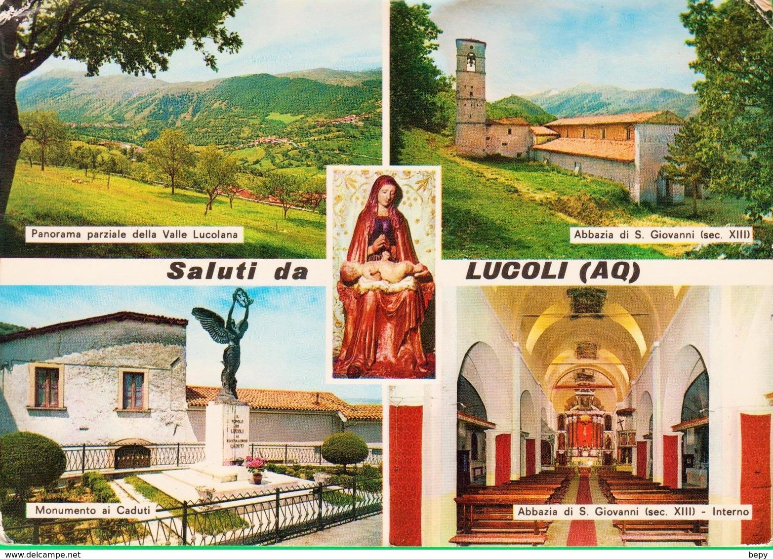 LUCOLI. Saluti Da...Chiesa. Abazzia. Monumento Ai Caduti, Valle Lucolare.  615 - L'Aquila