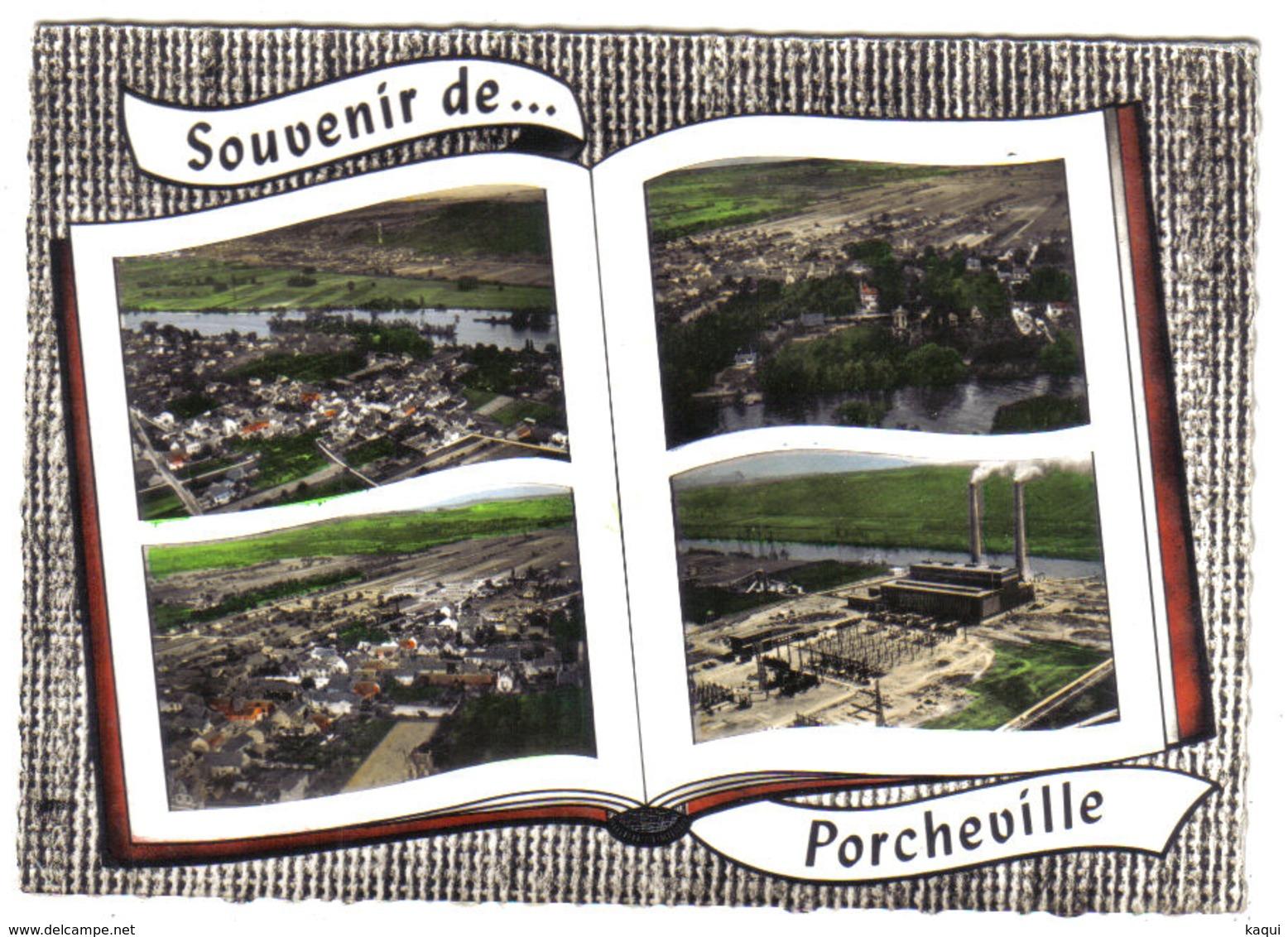 YVELINES - Souvenir De PORCHEVILLE En 4 Vues - Porcheville