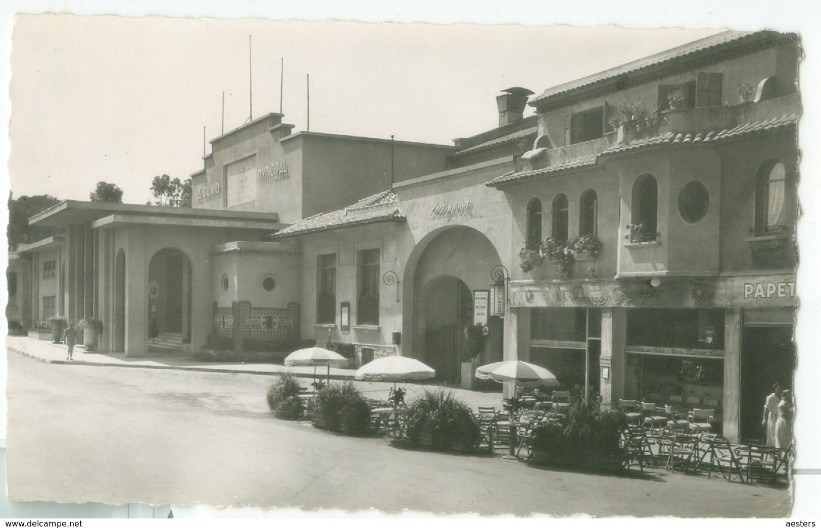 Juan-les-Pins; Le Casino - Voyagé. (La Cigogne - Monaco) - Juan-les-Pins