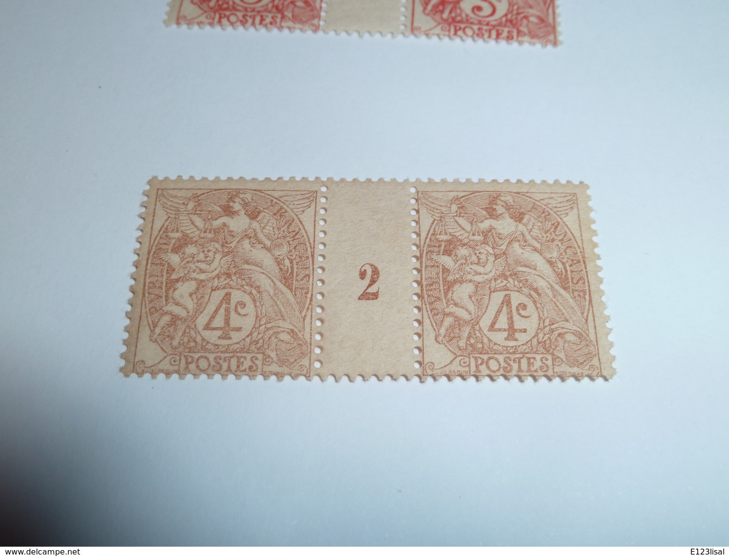 Millésime TYPE BLANC ; 4c   YT N° 110  Millésime 2 - 1900-29 Blanc