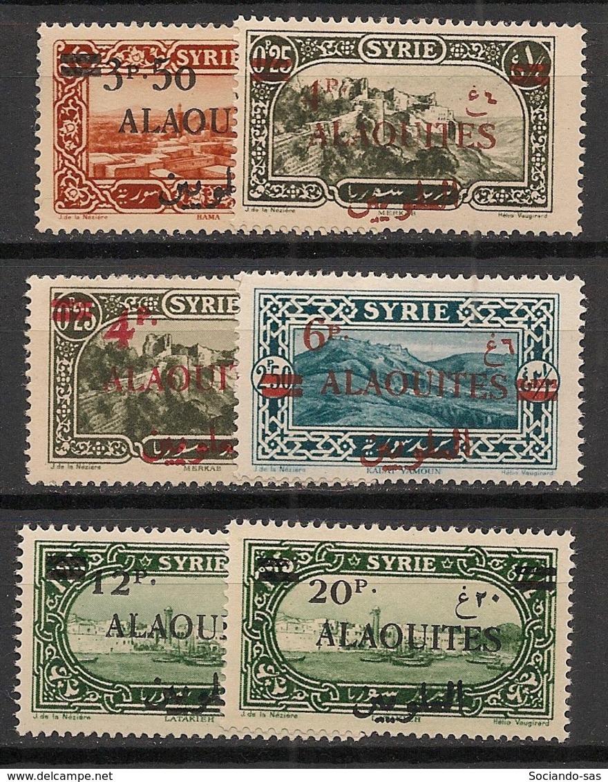 Alaouites - 1926-28 - N°Yv. 35 à 40 - Série Complète - Neuf Luxe ** / MNH / Postfrisch - Alaouites (1923-1930)