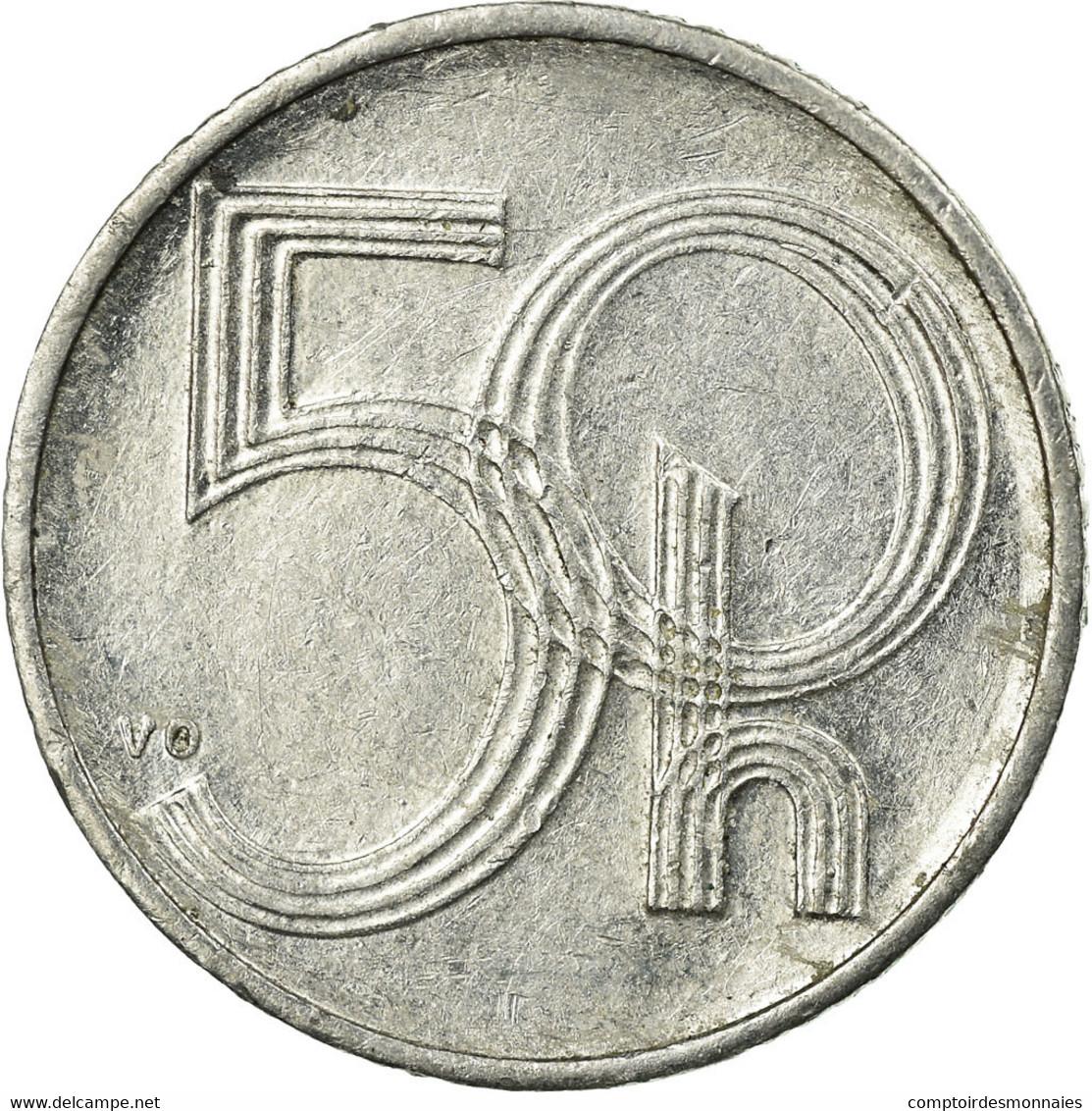 Monnaie, République Tchèque, 50 Haleru, 1993, TTB, Aluminium, KM:3.1 - Tchéquie