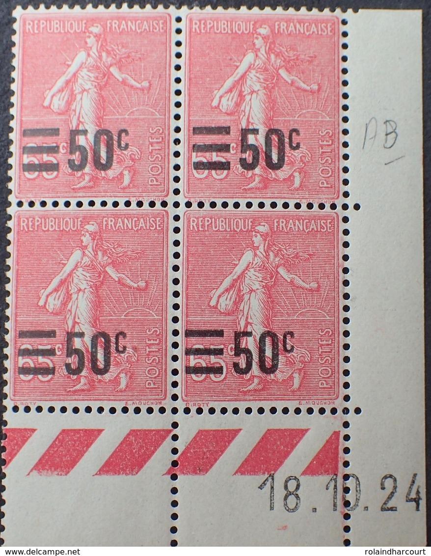 R1934/153 - 1924 - TYPE SEMEUSE LIGNEE Avec SURCHARGE - N°224 TIMBRES NEUFS** CdF Daté - ....-1929
