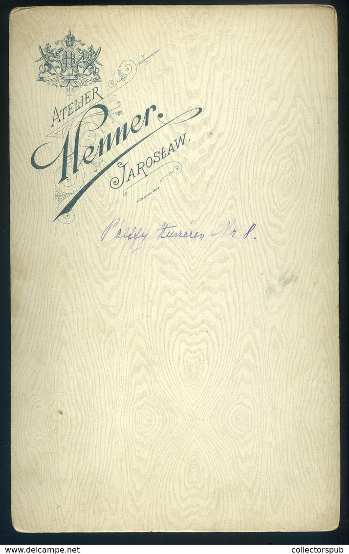 PÁLFFY HUSZÁROK 1890-95. Ca. B.Henner : Jaroslaw , Nagyon Szép Cabinet Fotó - Foto's