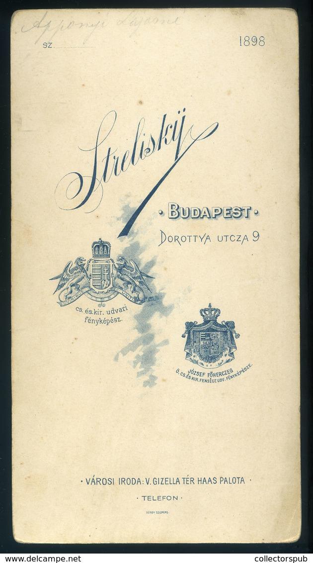 BUDAPEST Strelisky : Gróf Apponyi Lajosné, Cabinet Fotó - Foto's