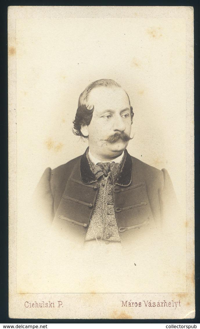 MAROSVÁSÁRHELY Ciehulski P. 1865-70. Cca. Dr Péterffy József Orvosdoktor 1826 –1890. Visit Fotó , (az Első Vásárhelyi Do - Foto's