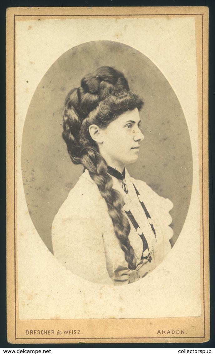 ARAD 1880.cca. Drescher és Weisz :Ismeretlen Hölgy  Visit Fotó - Andere