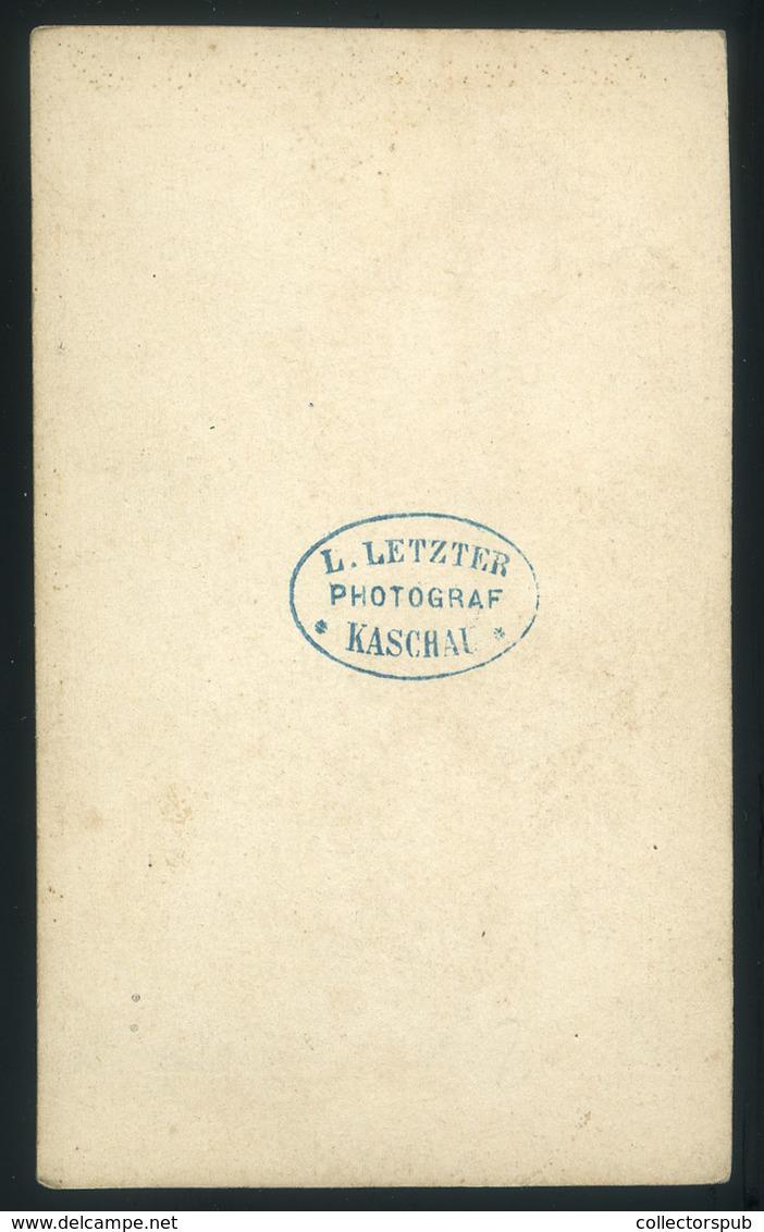 KASSA 1864-65. Ca. Letzter Lázár : Ismeretlen Férfiak, Ritka és érdekes Vsit Fotó. Letzter 1832-ben Született Kassán Sze - Foto's