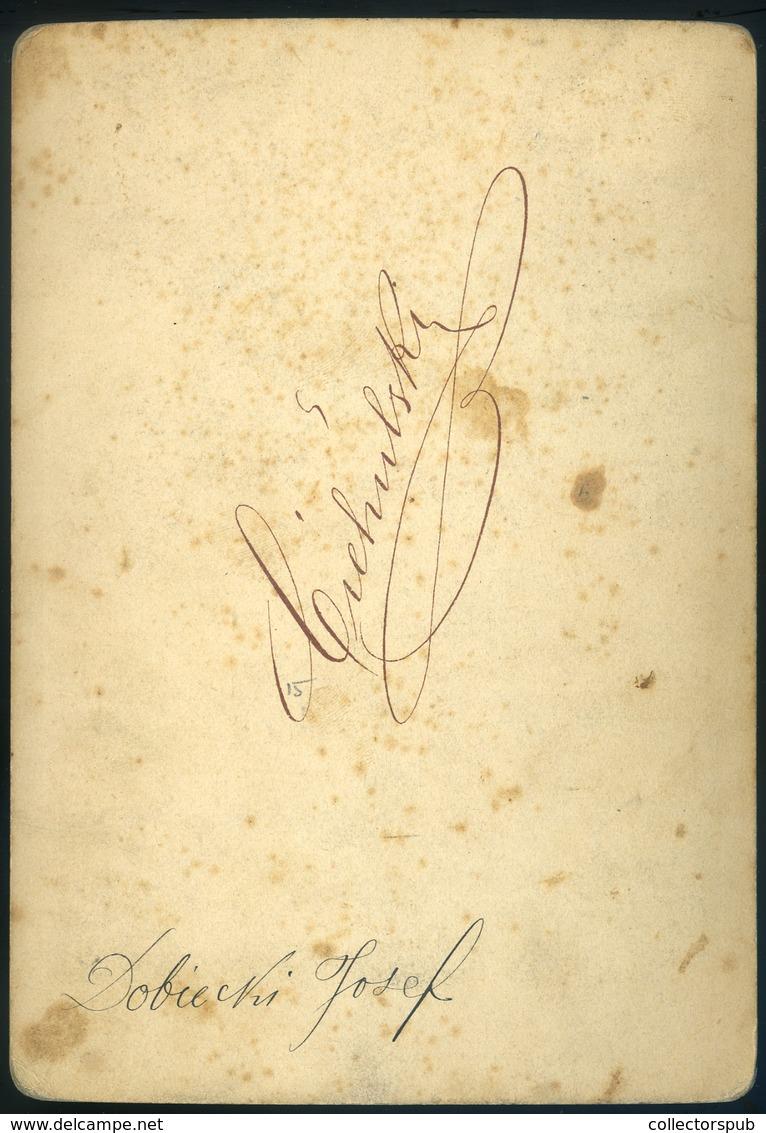 MAROSVÁSÁRHELY 1870. Ca. Ciehulski György : Katona Portré, Cabinet Fotó , Dobiecki József - Andere