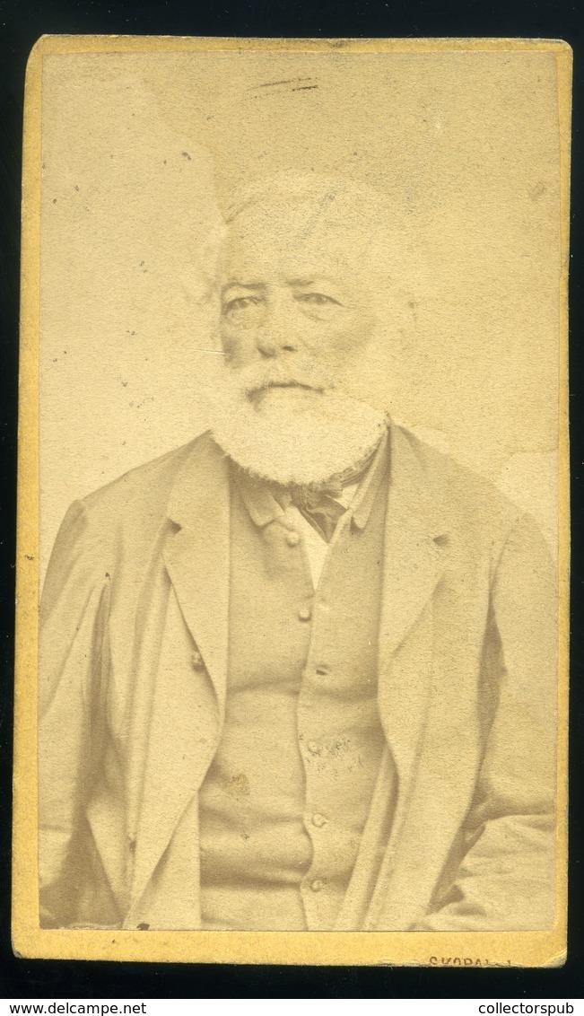 SZATMÁR 1872. Skopal J. : Ismeretlen Férfi, Régi Visit Fotó - Andere