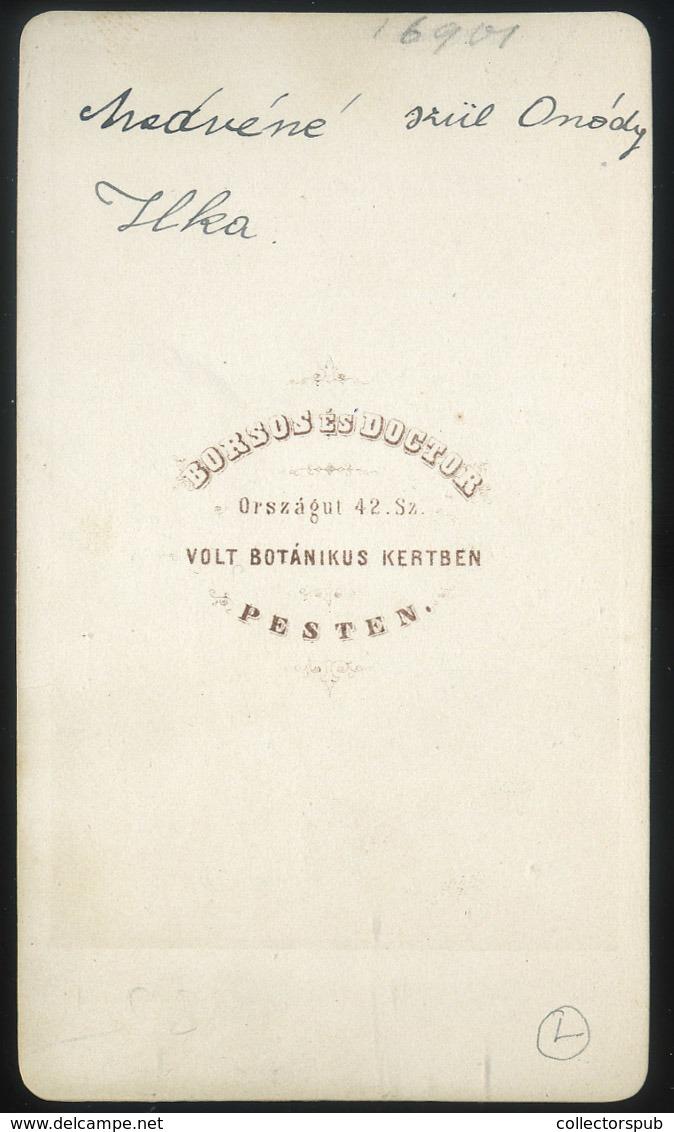 PEST 1861-5.  Borsos és Doctor : Onódy Ilka   Visit Fotó - Andere