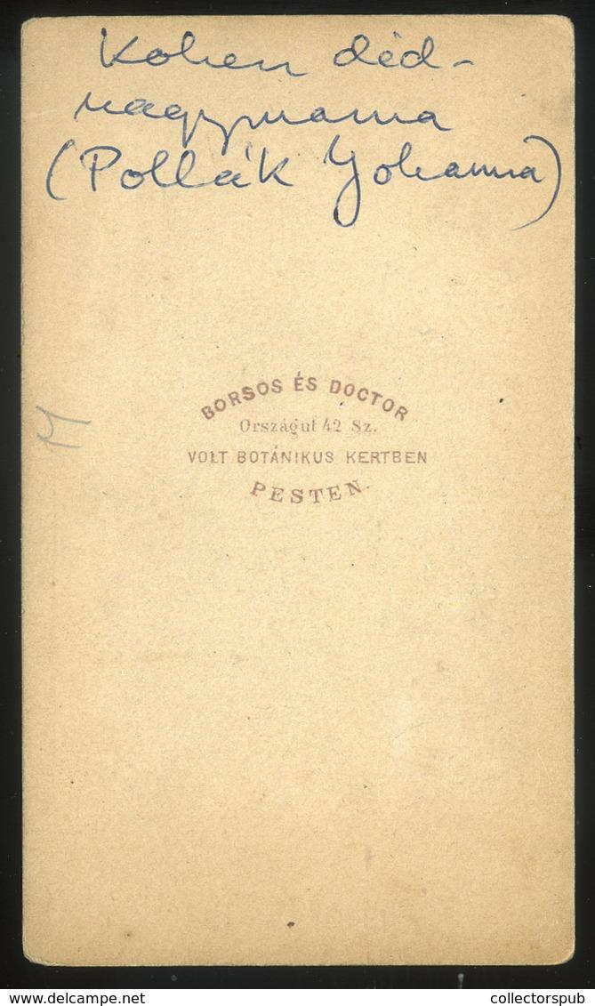 PEST 1860-65.  Borsos és Doctor : Pollák Johanna,  Visit Fotó - Foto's