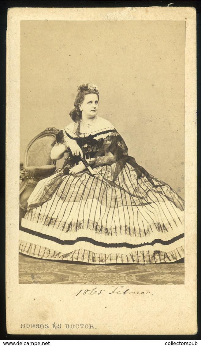 PEST 18665.  Borsos és Doctor : Ismeretlen Hölgy,  Visit Fotó - Andere