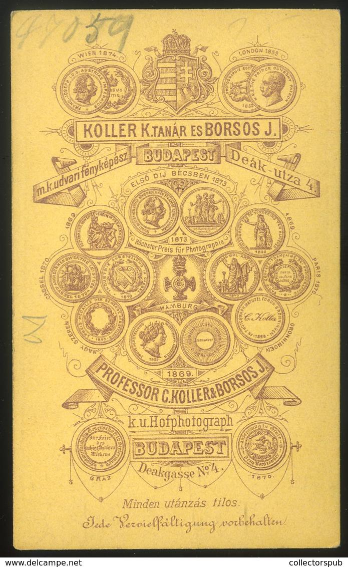 PEST 1870-75. Koller és Borsos : Ismeretlen Férfi, Visit Fotó - Andere