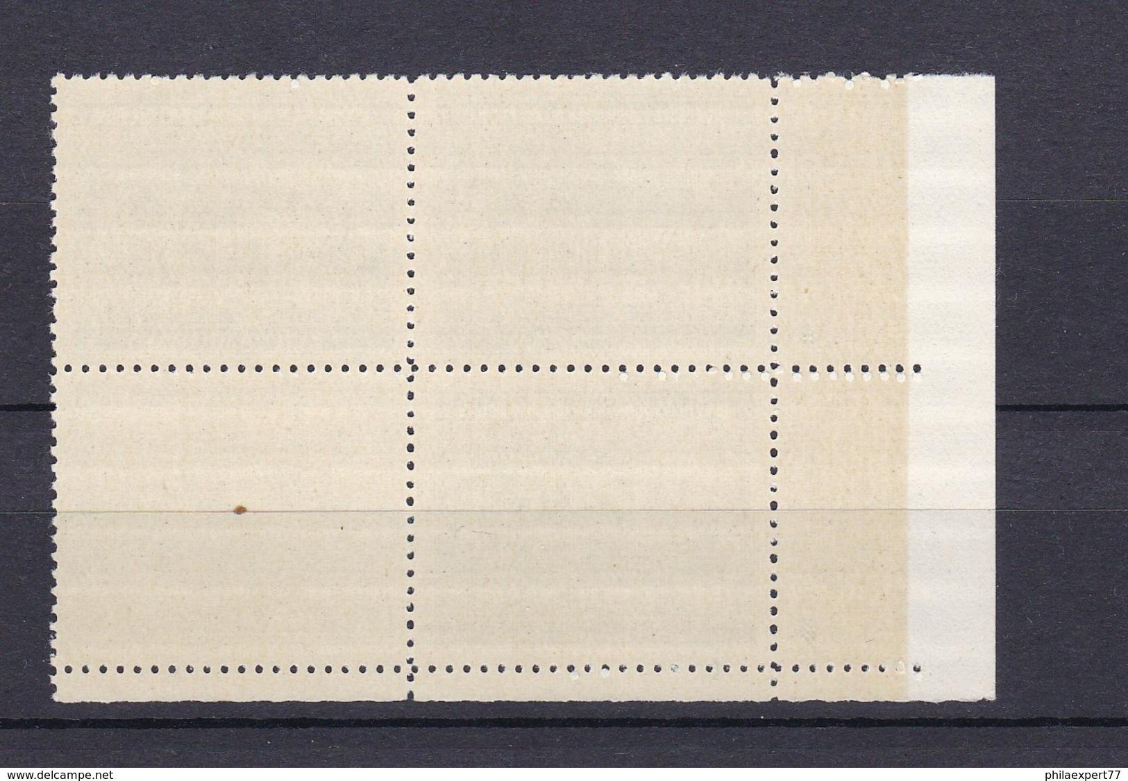Böhmen Und Mähren - 1940/41 - Michel Nr. 60 Pl.-St. Viererblock Mit Leerfeld - Besetzungen 1938-45