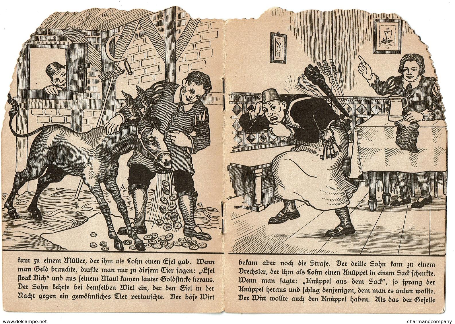 Brüder Grimm Frères - Tischlein Deck Dich - 4 Pages - Offert Par La Pharmacie Watry à Luxembourg  - 3 Scans - Boeken Voor Kinderen